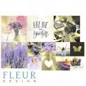 Pretty violet, набор карточек 9,5х9,5 + 5х5 см 4+8шт Fleur Design