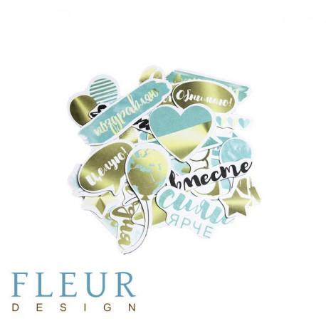 Pretty tiffany, набор высечек для скрапбукинга ????шт Fleur Design