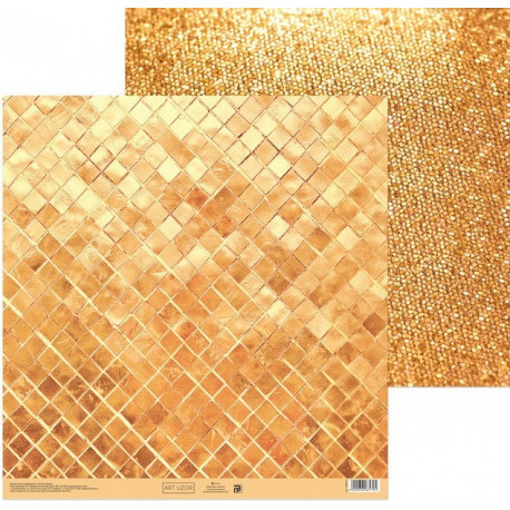 Сияние золота, бумага для скрапбукинга 30,5х30,5см 180г/м2 двусторонняя АртУзор