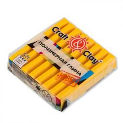 Желтый, полимерная глина запекаемая 52гр Craft&Clay