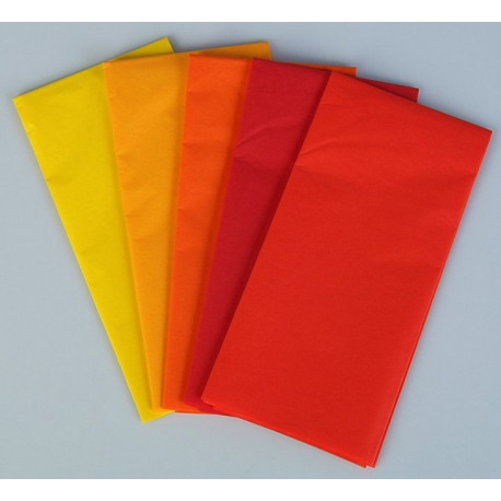 Рубин, набор бумаги тишью 5листов 50х70см Werola(SL)