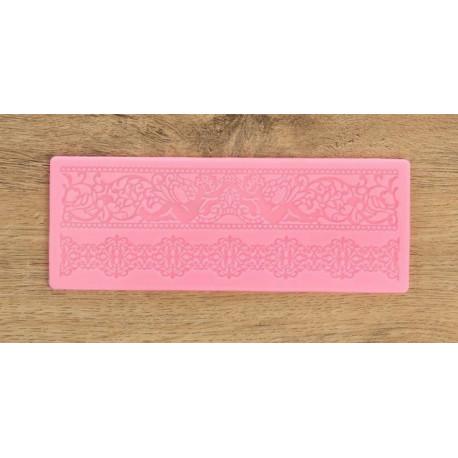 Винтаж, молд силиконовый коврик для айсинга 18,5х7х0,3см SL