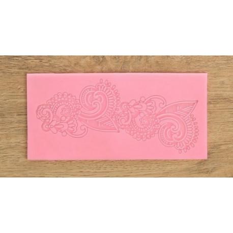 Арт, молд силиконовый коврик для айсинга 16,5х8х0,3см SL
