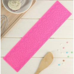Ажур, молд силиконовый (коврик для айсинга) 39х10х0,2см SL