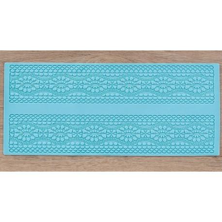 Цветочный ряд, молд силиконовый коврик для айсинга 39х16х0,3см SL