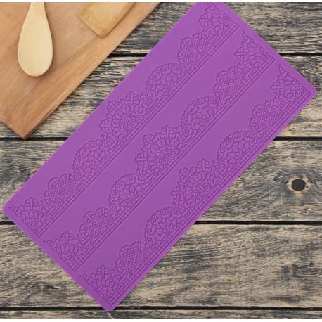 Волшебство 3полосы, молд силиконовый коврик для айсинга 39х19х0,2см SL