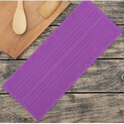 Ляпота 2полосы, молд силиконовый коврик для айсинга 38х16х0,2см SL