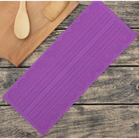 Ляпота 2 полосы, молд силиконовый (коврик для айсинга) 38х16х0,2см SL