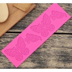 Бабочки, молд силиконовый коврик для айсинга 19х6х0,5см SL