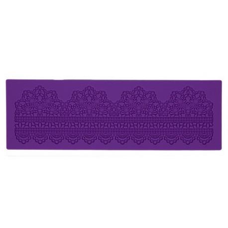 Ажурный пояс, молд силиконовый (коврик для айсинга) 40х13х0,4см SL