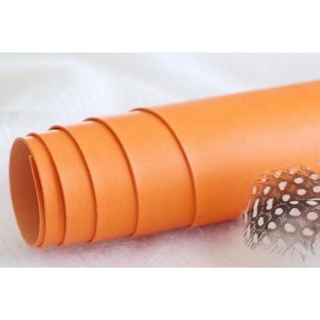 Оранжевый, переплетный кожзам для скрапбукинга 33х70(±1см) Китай