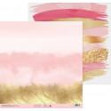Розовый закат, бумага для скрапбукинга 30,5х30,5см 180г/м2 двусторонняя АртУзор