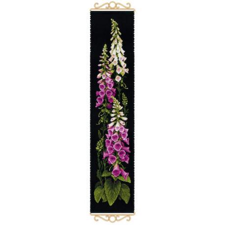 Наперстянка, набор для вышивания крестиком, 20х50см, мулине хлопок+шерсть 30цветов Риолис