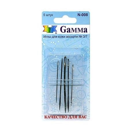 Иглы для кожи №3/7 5шт сталь Gamma