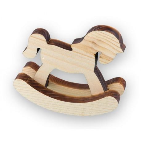 Лошадка-качалка, заготовка для декорирования сосна 12x9см Mr.Carving