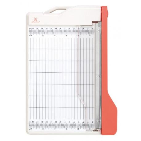 Резак для бумаги гильотинный, длина лезвия 22см 28х20х4см