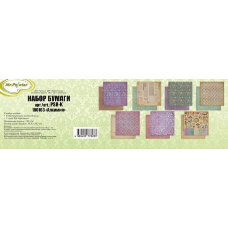 Алхимия, набор двусторонней бумаги 6+1л. 30.5x30.5см 190г/кв.м Mr.Painter