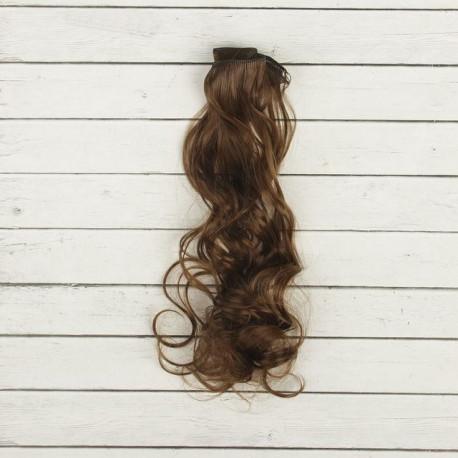 Каштан, кудри волосы для кукол 40см на трессе 50см цв.№8В SL
