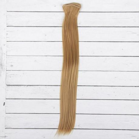 Русый, прямые волосы для кукол 40см на трессе 50см цв.№27 SL