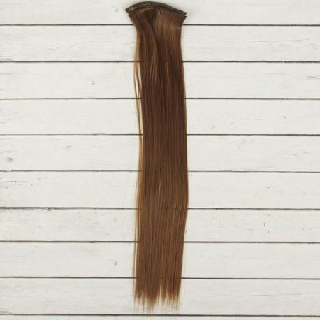 Св.каштан, прямые волосы для кукол 40см на трессе 50см цв.№30В SL