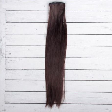 Каштан, прямые волосы для кукол 40см на трессе 50см цв.№6А SL