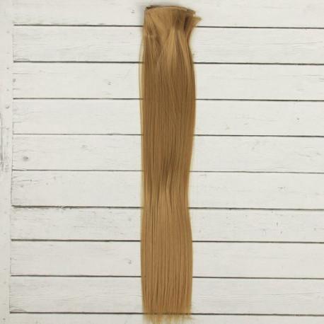 Русый, прямые волосы для кукол 40см на трессе 50см цв.№22Т SL