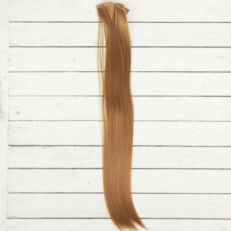 Русый, прямые волосы для кукол 40см на трессе 50см цв.№27А SL