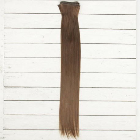 Каштан, прямые волосы для кукол 40см на трессе 50см цв.№8В SL