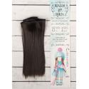Шатен, прямые волосы для кукол 15см на трессе 100см цв.№2 SL
