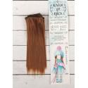 Рыжий, прямые волосы для кукол 15см на трессе 100см цв.№30А SL
