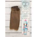 Т.русый, прямые волосы для кукол 15см на трессе 100см цв.№18В SL