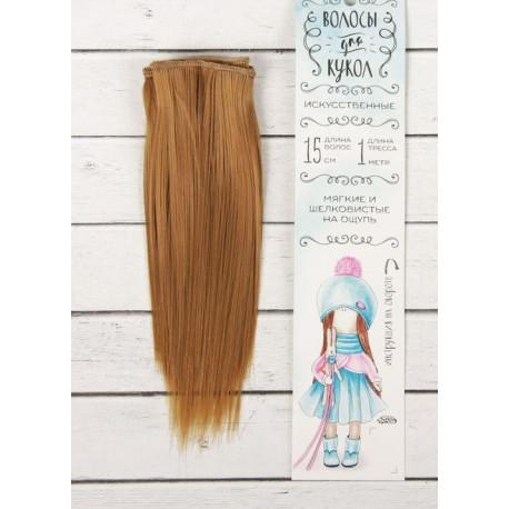 Св.рыжий, прямые волосы для кукол 15см на трессе 100см цв.№16А SL