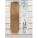Русый, прямые волосы для кукол 25см на трессе 100см цв.№16 SL
