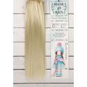 Св.русый, прямые волосы для кукол 25см на трессе 100см цв.№88 SL