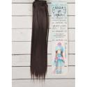 Шатен, прямые волосы для кукол 25см на трессе 100см цв.№2 SL