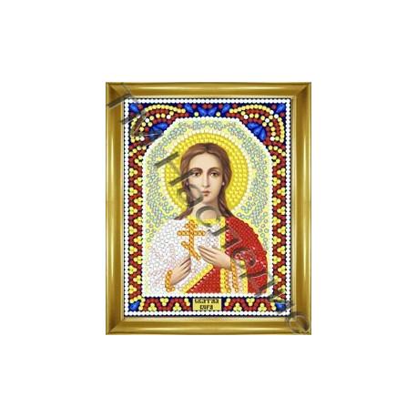 Вера, набор для изготовления иконы круглыми стразами 10,5х14,5см 9цв. частичная выкладка