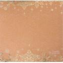 Снежинки, односторонняя бумага для скрапбукинга крафтовая с фольгированием 30,5*30,5см 180г/м