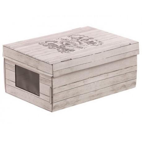 Милый дом, коробка складная с окошком 31х26х16см гофрокартон АртУзор