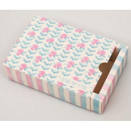 Делай мир лучше, коробка складная 12х16х4см кардсток АртУзор