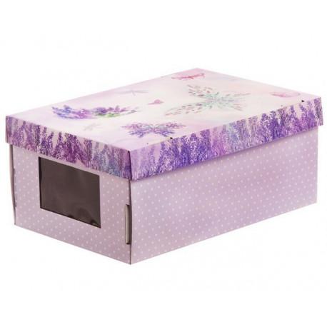 Счастье в каждом дне, коробка складная с окошком 31х26х16см гофрокартон АртУзор