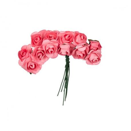 "Дымчатая роза (т.розовый), декоративные элементы ""Цветы"", диаметр цветка 2,3см, 12шт,  Mr.Painter"
