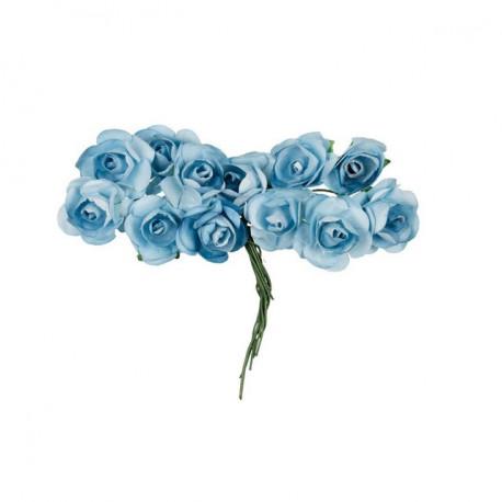 """Голубая бездна (голубой, декоративные элементы """"Цветы"""", диаметр цветка 2,3см, 12шт,  Mr.Painter"""