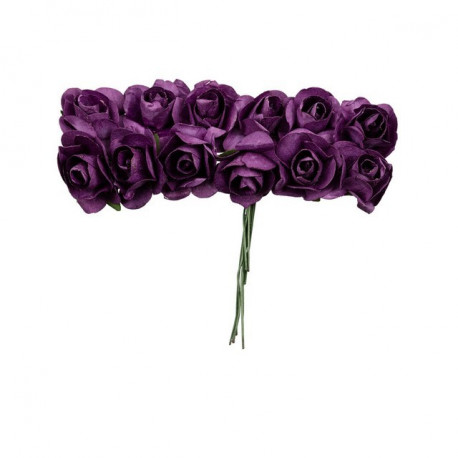 "Баклажан (фиолетовый), декоративные элементы ""Цветы"", диаметр цветка 2,3см, 12шт,  Mr.Painter"