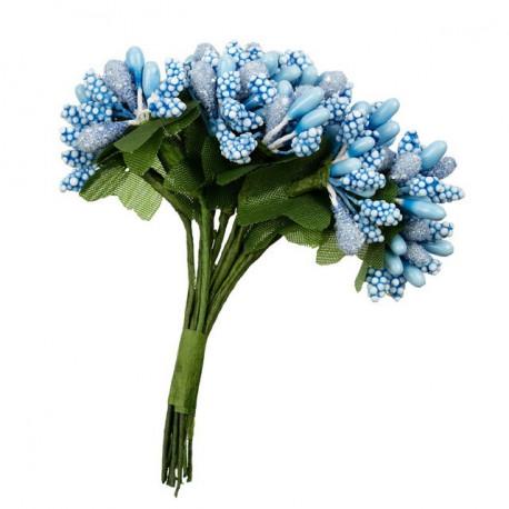 "Голубой, декоративные элементы ""Веточки"", диаметр 2см, 12шт,  Mr.Painter"