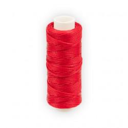 Красный, нитки для кожи вощёные, плоские 1мм, 25метров