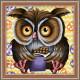 Сова-сладкоежка, набор для изготовления картины стразами 25х25см 24цв. полная выкладка АЖ