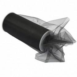 Черный, фатин средней жесткости в шпульках шир.150мм, намотка 22.86м 100%ПЭ