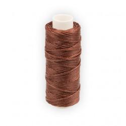 Коричневый, нитки для кожи вощёные, плоские 1мм, 25метров