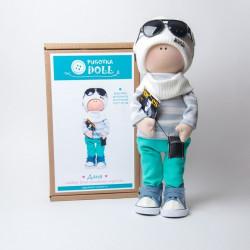 Даня, набор для шитья куклы 35см. Pugovka Doll
