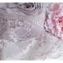 Пыльная роза Весна, кружево с узором ширина 10см 1м